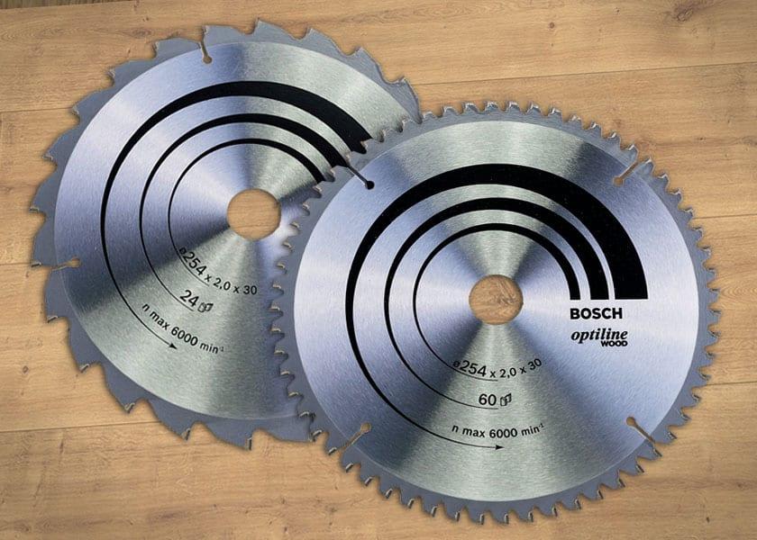 16  Handkreissägeblatt 2 Stück HM Kreissägeblatt von Bosch  170 x 2,2 x 30 mm Z