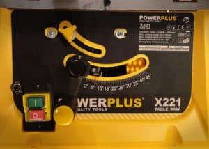 Varo Powerplus POWX221 Tischkreissäge - Front