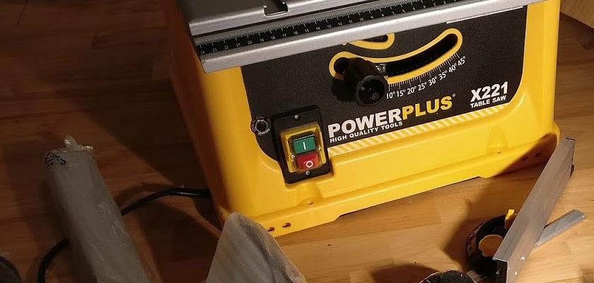 2000/W Tischs/äge mit 4.200/U//min Powerplus Flipover Kreiss/äge 254/mm