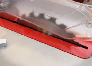 Tischkreissaege BoschGTS 10 J - Sägeschutz