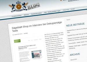 Ausführliches Interview mit dem Sägeblattshop