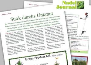 Ausschnitt der Zeitschrift Nadeljournal für Schnittpflanzen